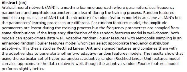 دانلود پایان نامه : مطالعه مدلهای ویژگی تصادفی توسط شبکه عصبی مصنوعی (ANN) در یادگیری ماشینی