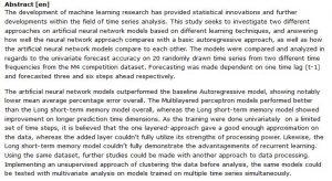 دانلود پایان نامه : مطالعه مقایسه ای مدل های شبکه عصبی مصنوعی