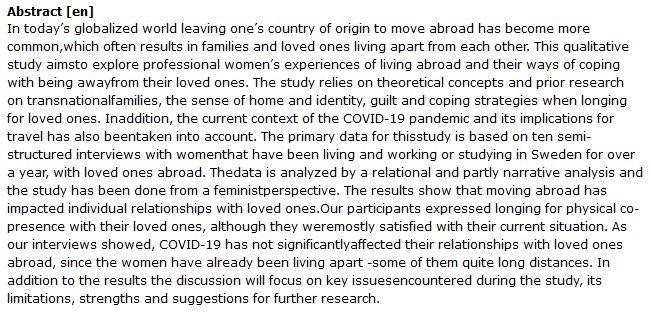 دانلود پایان نامه : مطالعه کیفی در مورد زندگی دور از خانواده زنان مهاجر