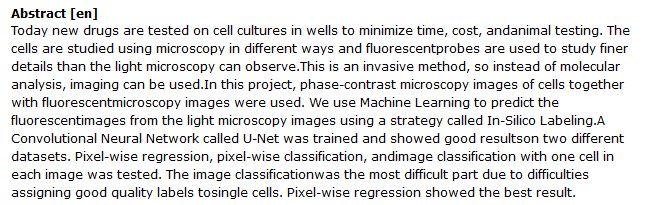 دانلود پایان نامه : پیش بینی تصویربرداری سلول های زنده به وسیله یادگیری ماشینی
