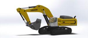 دانلود پروژه طراحی بیل مکانیکی لیبهر Liebherr 980