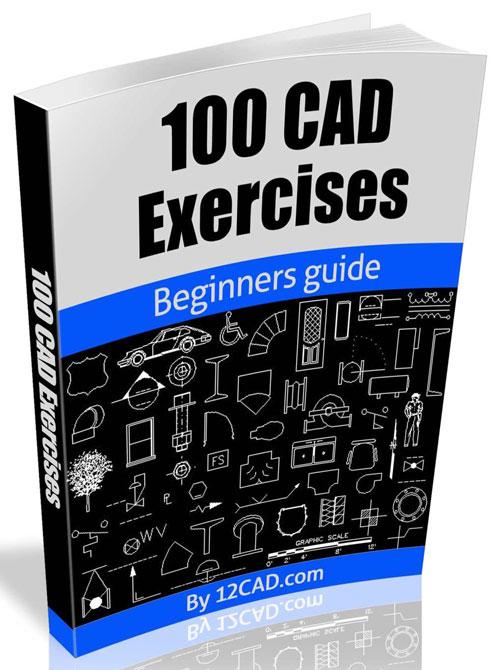 دانلود پروژه طراحی 100 مدل تمرینی CAD سالیدورک + کتاب
