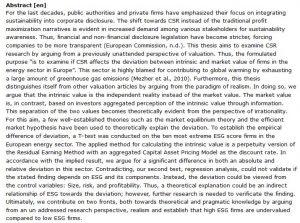 دانلود پایان نامه : بررسی انحراف ارزش گذاری CSR در شرکت های اروپایی