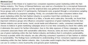 دانلود پایان نامه : بررسی تجربه مصرف کنندگان از بازاریابی سبز در صنعت مد و پوشاک