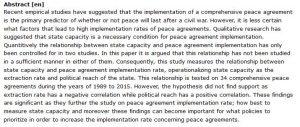 دانلود پایان نامه : بررسی ظرفیت های دولت و قابلیت اجرای توافق صلح جامع در جنگ داخلی