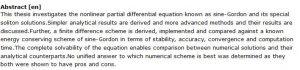 دانلود پایان نامه : بررسی عددی و تحلیلی معادله ساین گوردون و راه حل های سالیتون