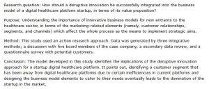 دانلود پایان نامه : بررسی یک رویکرد نوآورانه مخرب برای طراحی مدل کسب و کار پلتفرم مراقبت های بهداشتی دیجیتال