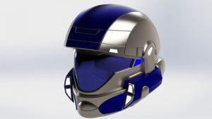 دانلود پروژه طراحی کلاه کاراکتر بازی Halo ODST